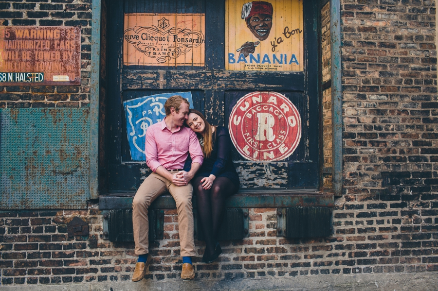 Creative and Colorful West Loop Chicago Engagement Session