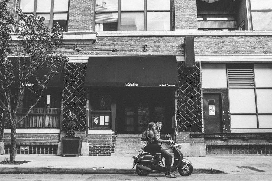 Chicago Moped Engagement Session, Angela Renee Photography