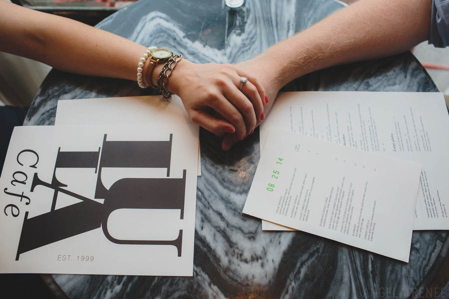 Cafe engagement session
