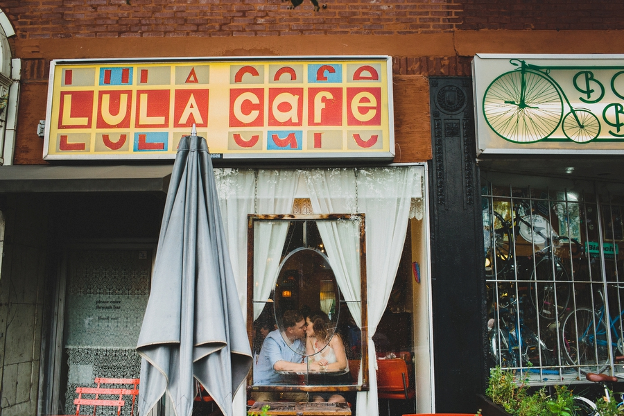 Cafe engagement photos chicago