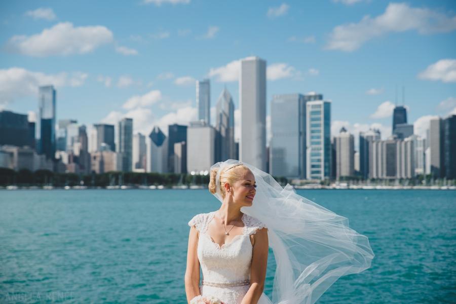 museum campus wedding photos