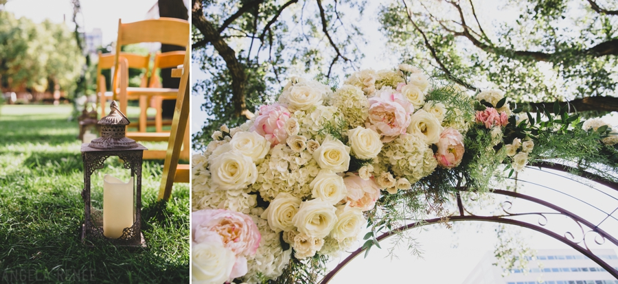 romantic ceremony details