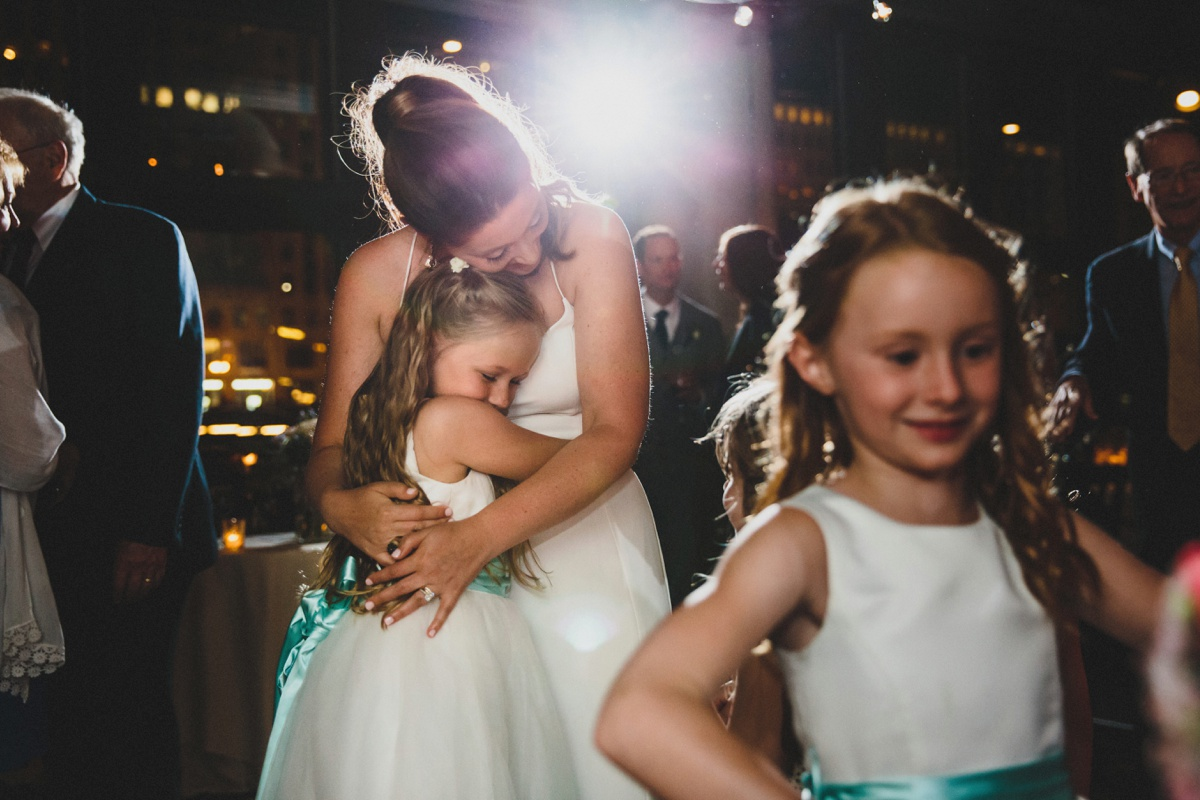 bride-and-flowergirl-reception