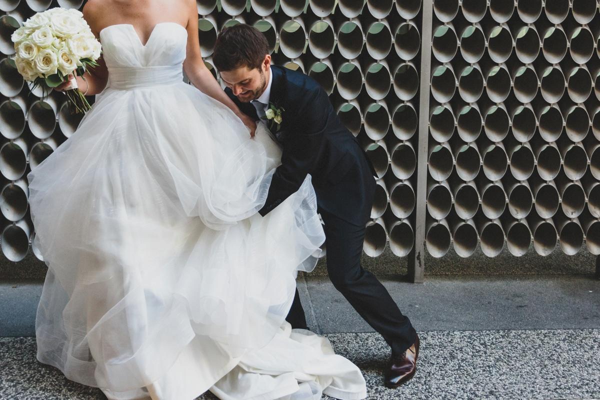 candid wedding day photo