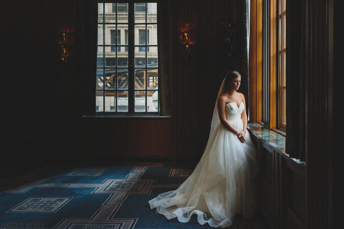 kimpton hotel allegro bride portrait
