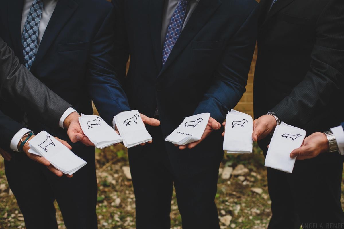 personalized groomsmen handkerchiefs