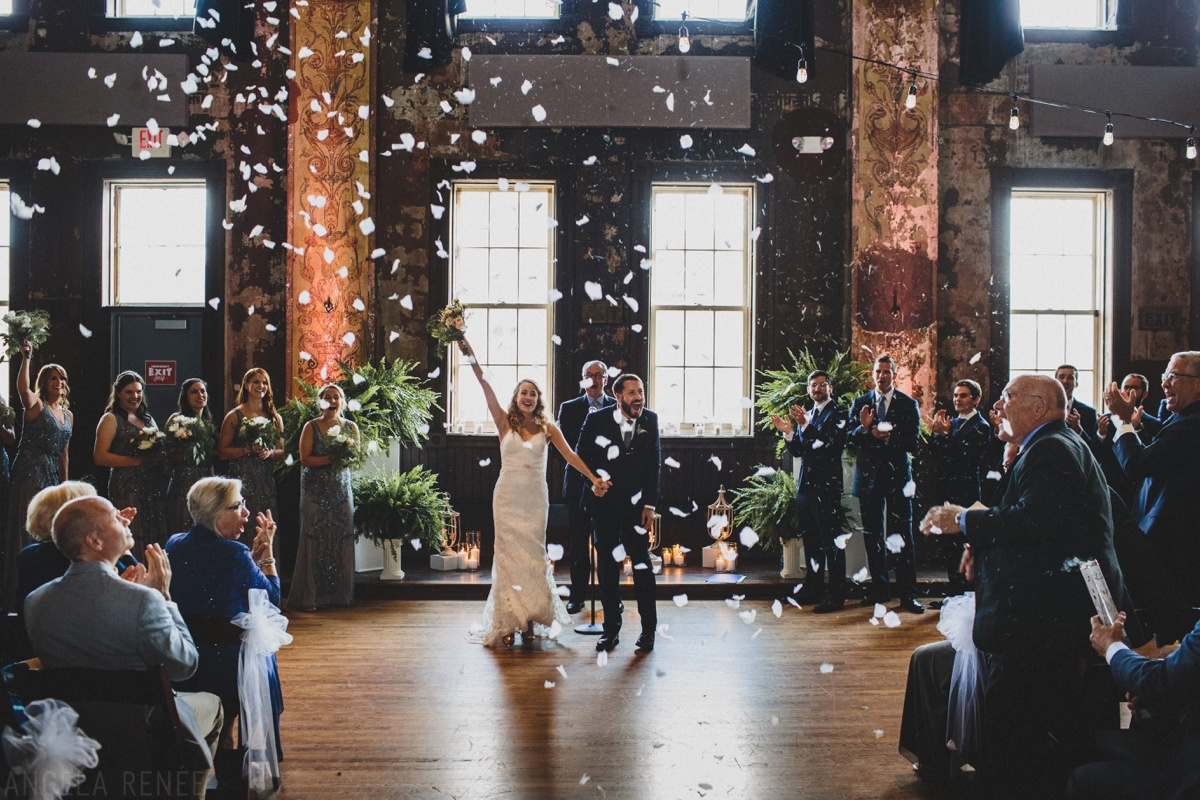 turner hall ballroom wedding confetti
