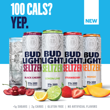 Bud Light Seltzer comes in 4 delicious flavors – Black Cherry, Strawberry, Lemon Lime and Mango – and with only 100 calories, 5% alc/vol, and less than a gram of sugar, you might as well have another one.