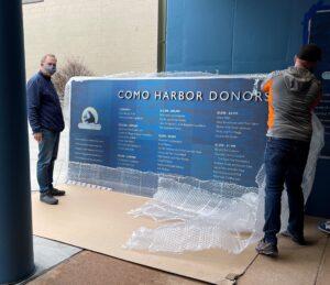 Dolan Printing Como Zoo Sign Install
