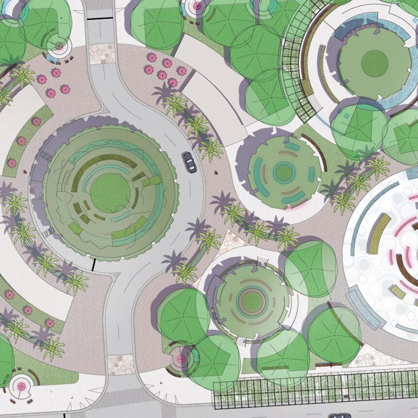 Brickell City Park Rendered Architectural Plan 2