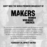 Makers: Women Who Make America Documentary #MakersWomen