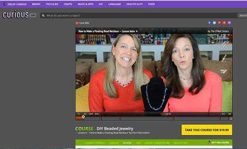 DIY Beaded Jewelry O'Neil Sisters Video Curious.com