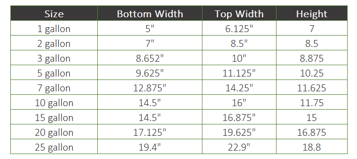 bamboo pot sizes for planting guidelines
