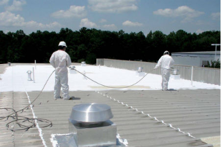Acrylic Roof Coating San Antonio spray roof coating Seguin spray foam insulation Austin