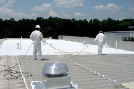 Acrylic Roof Coating San Antonio spray roof coating Seguin spray foam insulation Austin