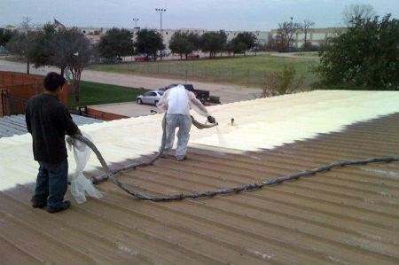 San Antonio Roof Spray Foam Coating Insulation Commercial Roofing Seguin