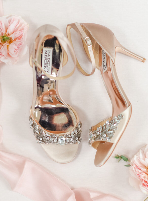 wedding flat lay shoes