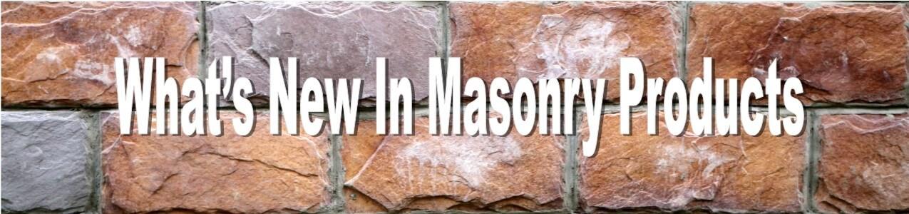 new masonry products