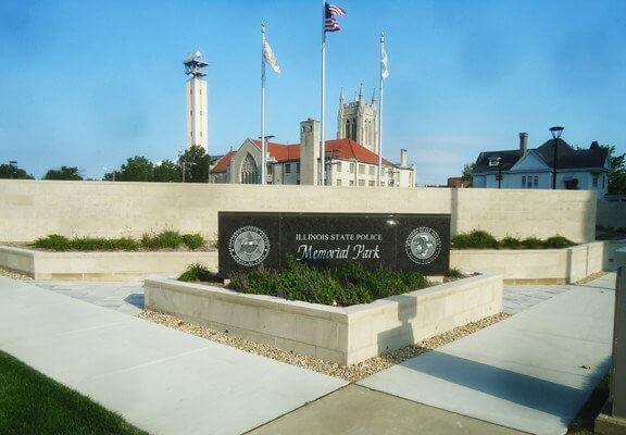 memorial park in stone