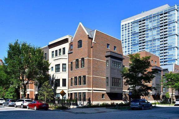 brick condominium construction