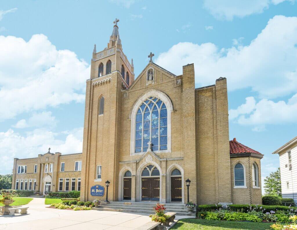 brick church restoration reconstruction