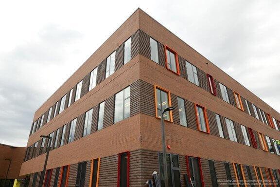 brick school addition