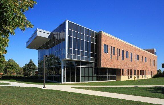 brick school design