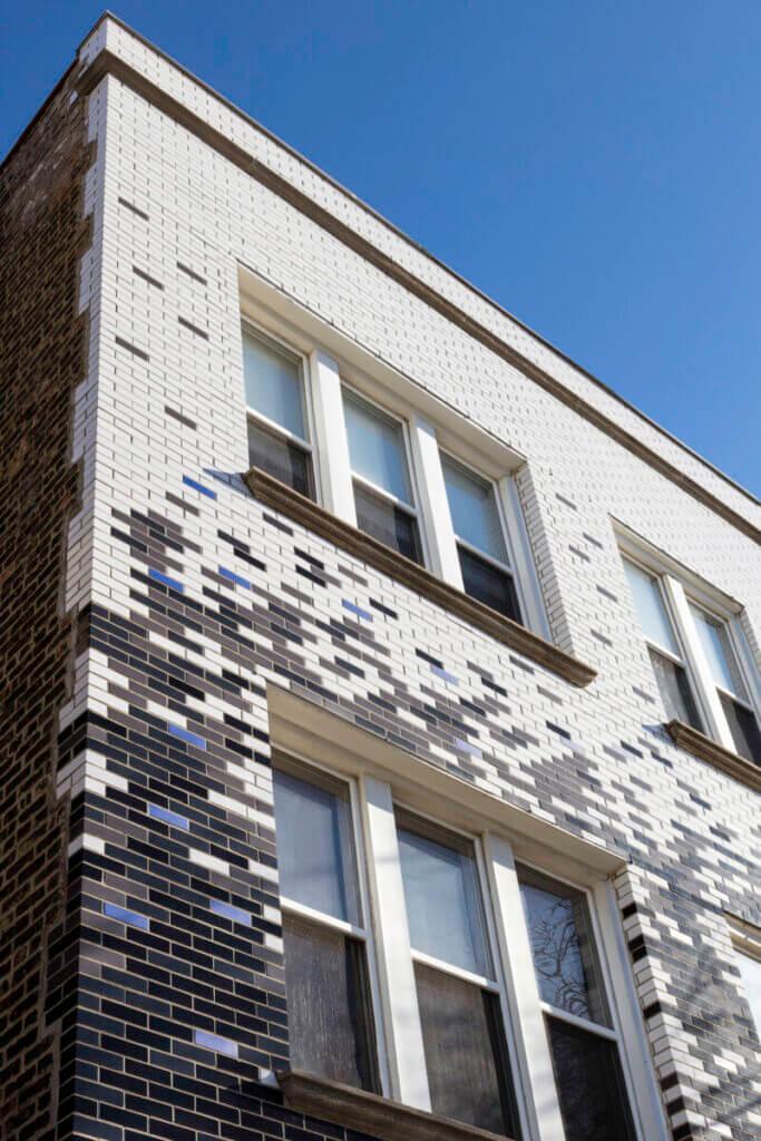 glazed brick facade