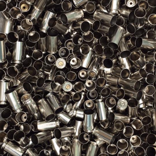 Polished nickel 40 reloading brass