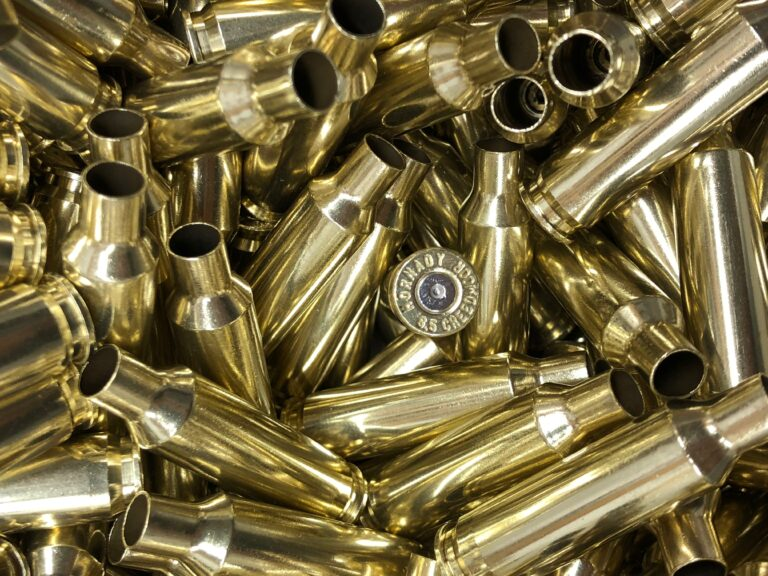 Polished 6.5 creedmoor reloading brass
