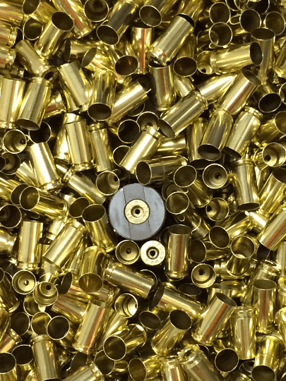 Processed 9mm-once fired reloading brass