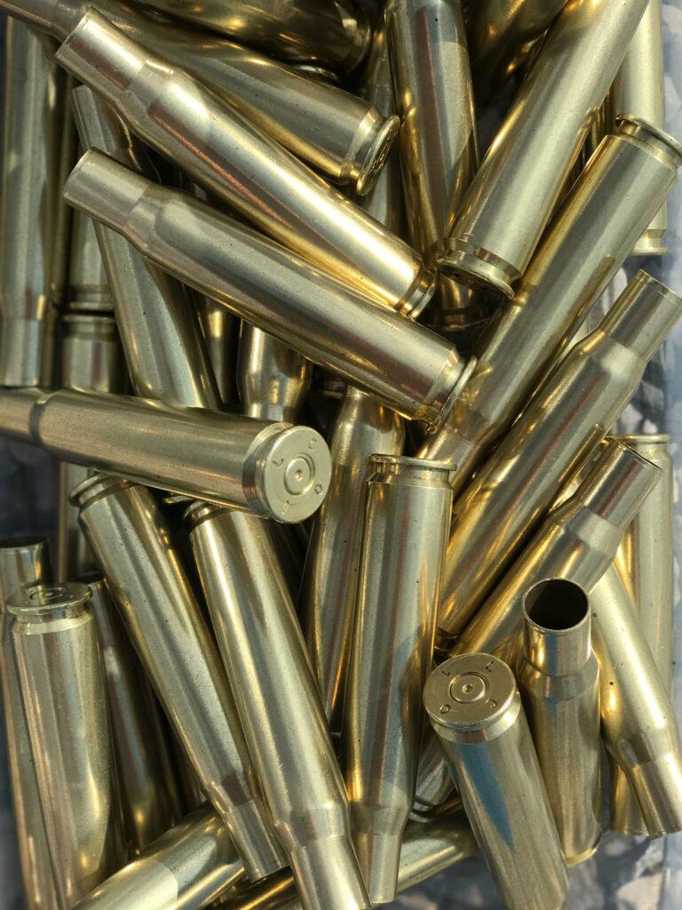 polished 50 BMG brass