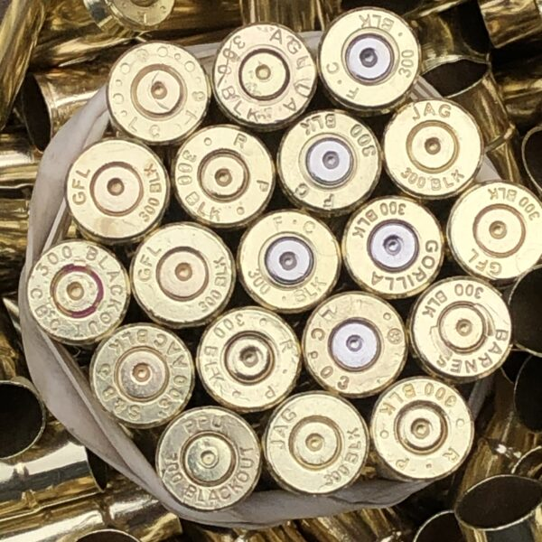 once fired 300 blackout brass
