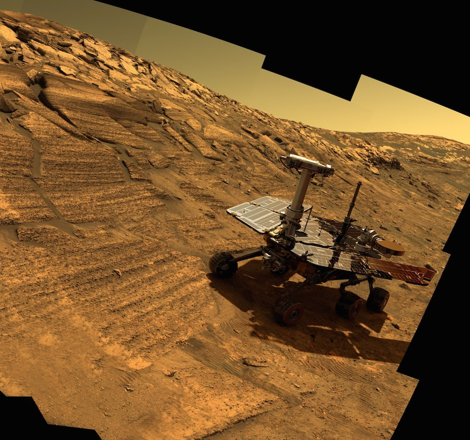 Opportunity en el Crater Endurance- NASA