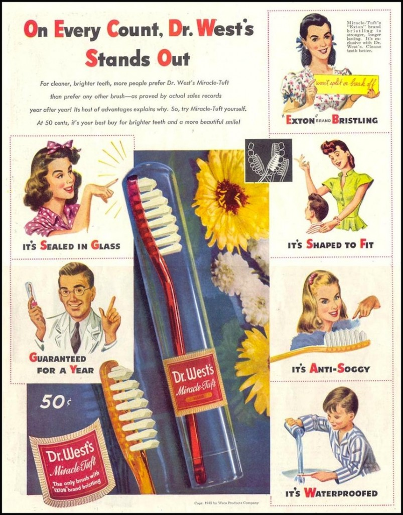 Dr West's Miracle Tuft Toothbrush