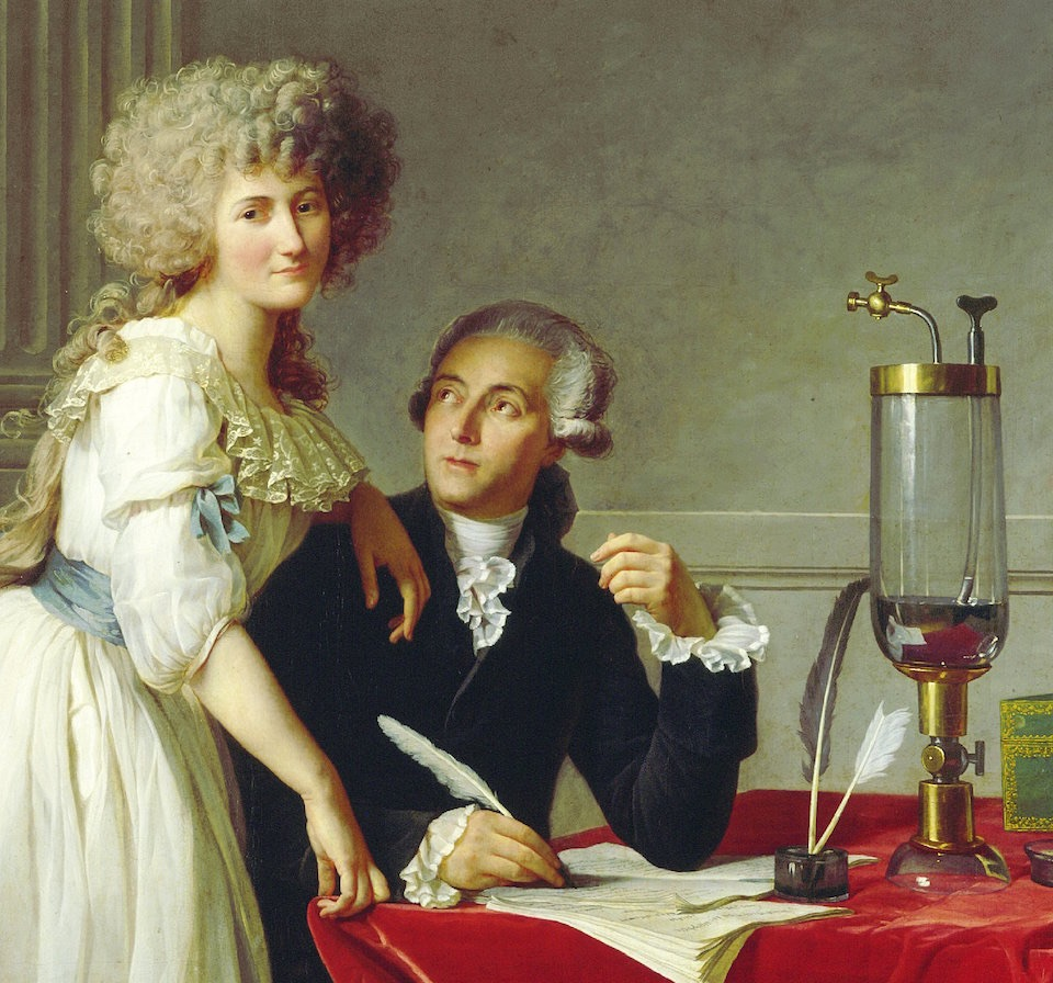 Antoine-Laurent de Lavoisier y su esposa, Jacques-Louis David, Metropolitan Museum of Art de New York, fragmento