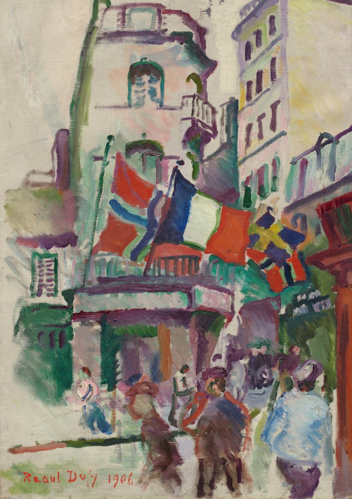 14 Julio, El Havre, Raoul Dufy, 1906- National Gallery of Art, Washington