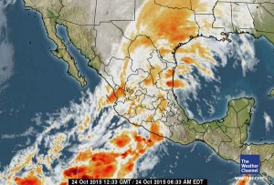 Huracán Patricia, 8-33 am EDT (Hora del Este) del 24 de oct de 2015, Wather Channel