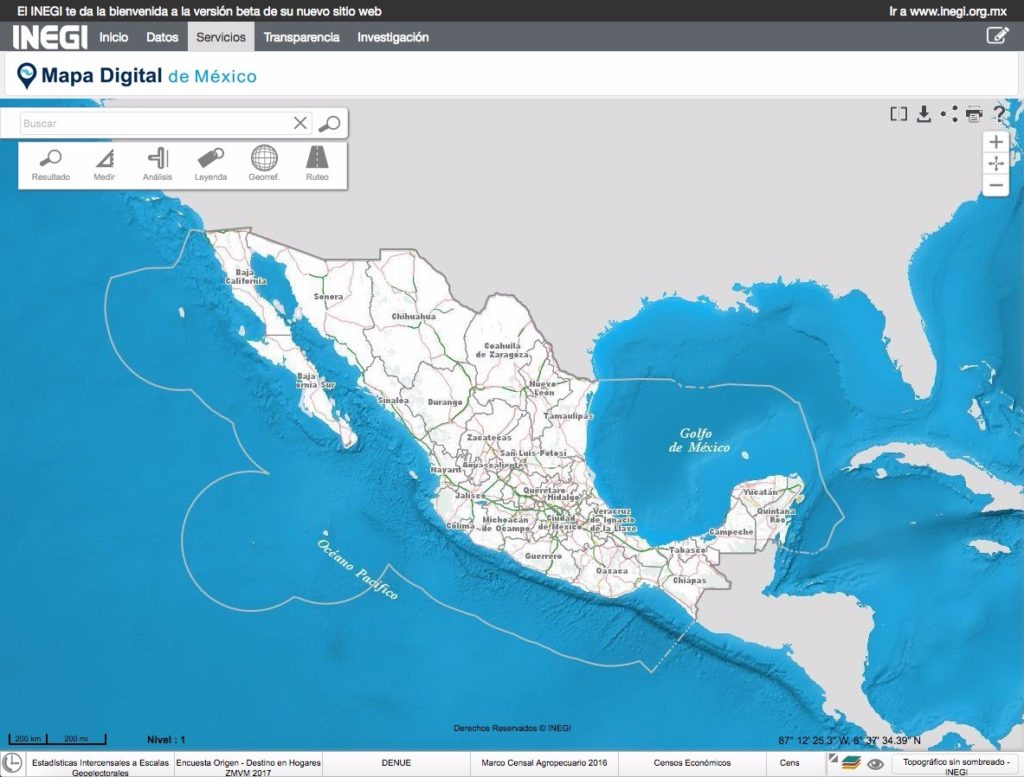 Mapa digital de Mexico- INEGI