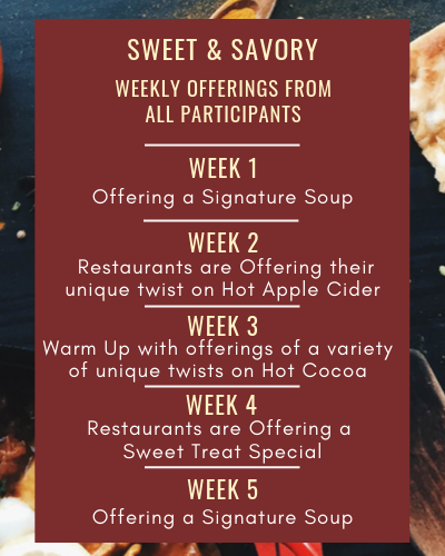 Menu for California Restaurant Month