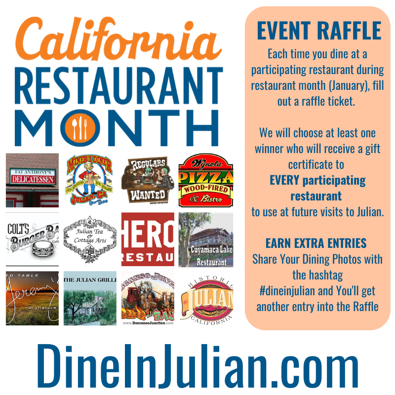 raffle promotion for California Restaurant Month