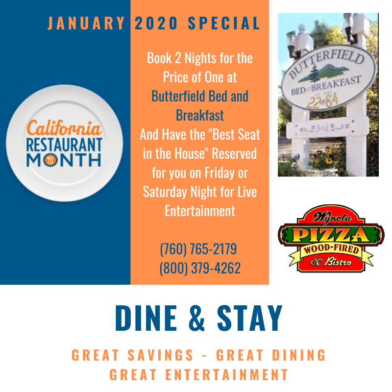 Dine and Stay in Julian - A Special Offer