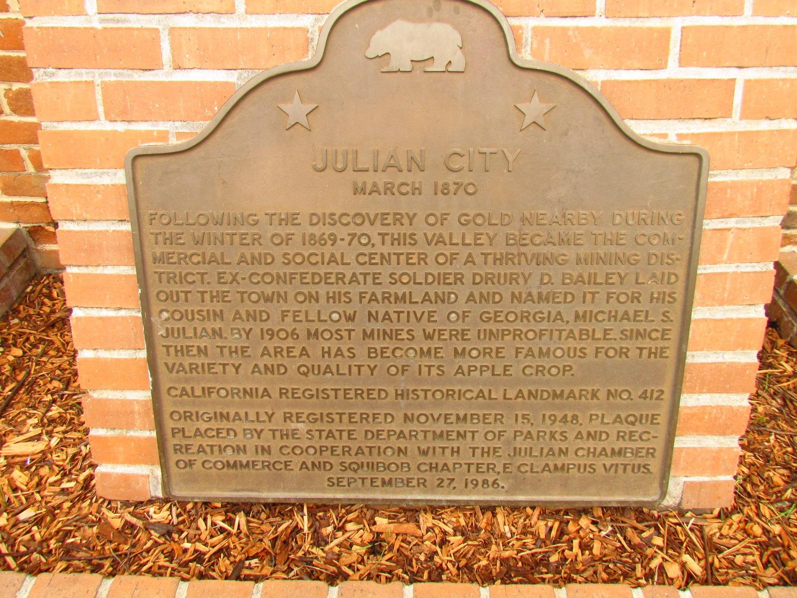 Julian City Sign