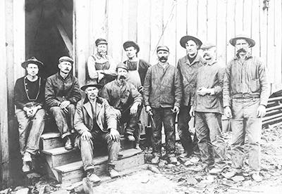 Miners-Helvetia-1901 Black & White photo