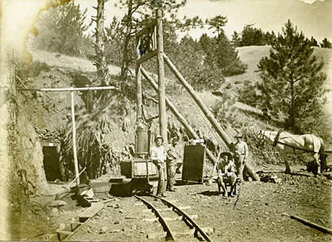 Washington Mine black & white photo