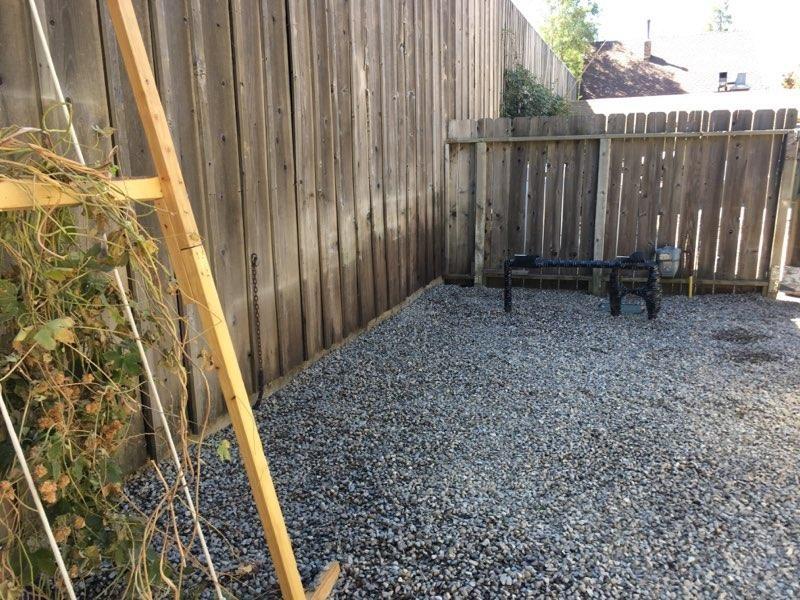 back yard renovation photo