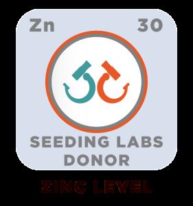 Zinc level donor badge