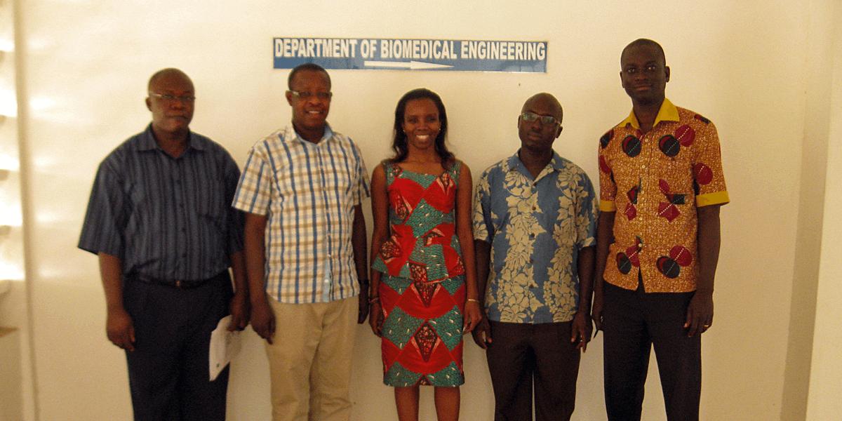 University of Ghana's Dr. Kweku Kyeremeh,  Dr. Elvis Tiburu, Dr. Elsie Effah Kaufmann,  Dr. Lucas Nana Wiredu Damoah, and Mr. Ezekiel Acquaah