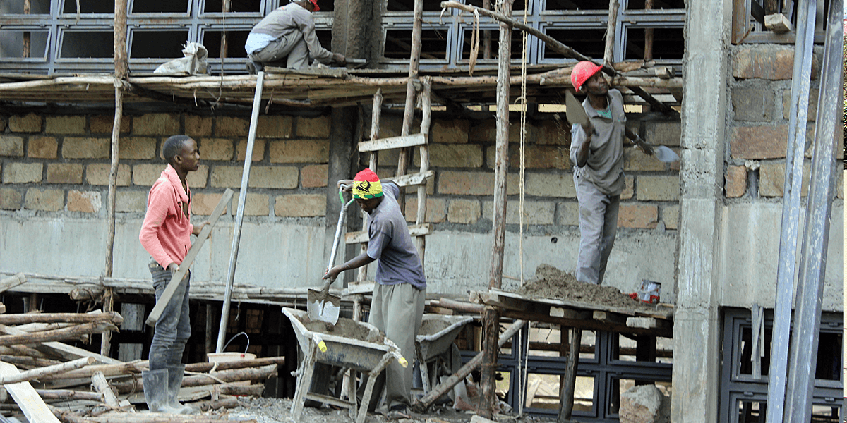 A new building under construction on the Machakos University College campus