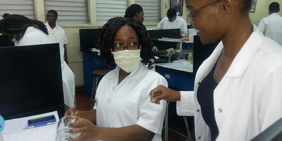 Technologist with UTech Jamaica student